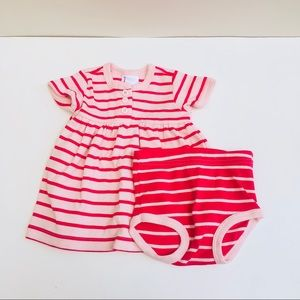 HP❤️Hannah Anderson Striped Dress & Diaper Cover